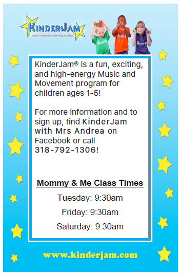 KinderJam December Classes @ T.R.E.E. House Children's Museum | Alexandria | Louisiana | United States