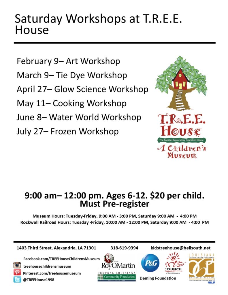 Art Workshop @ T.R.E.E. House Children's Museum