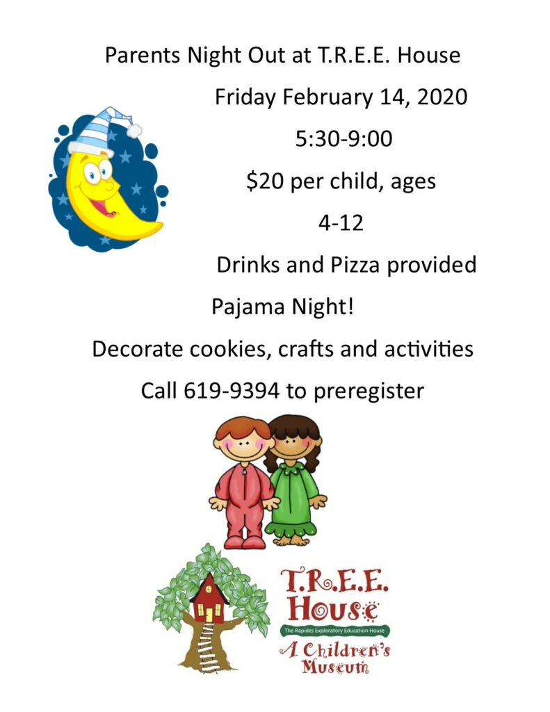 Parents' Night Out: Pajama Night @ T.R.E.E. House Children's Museum